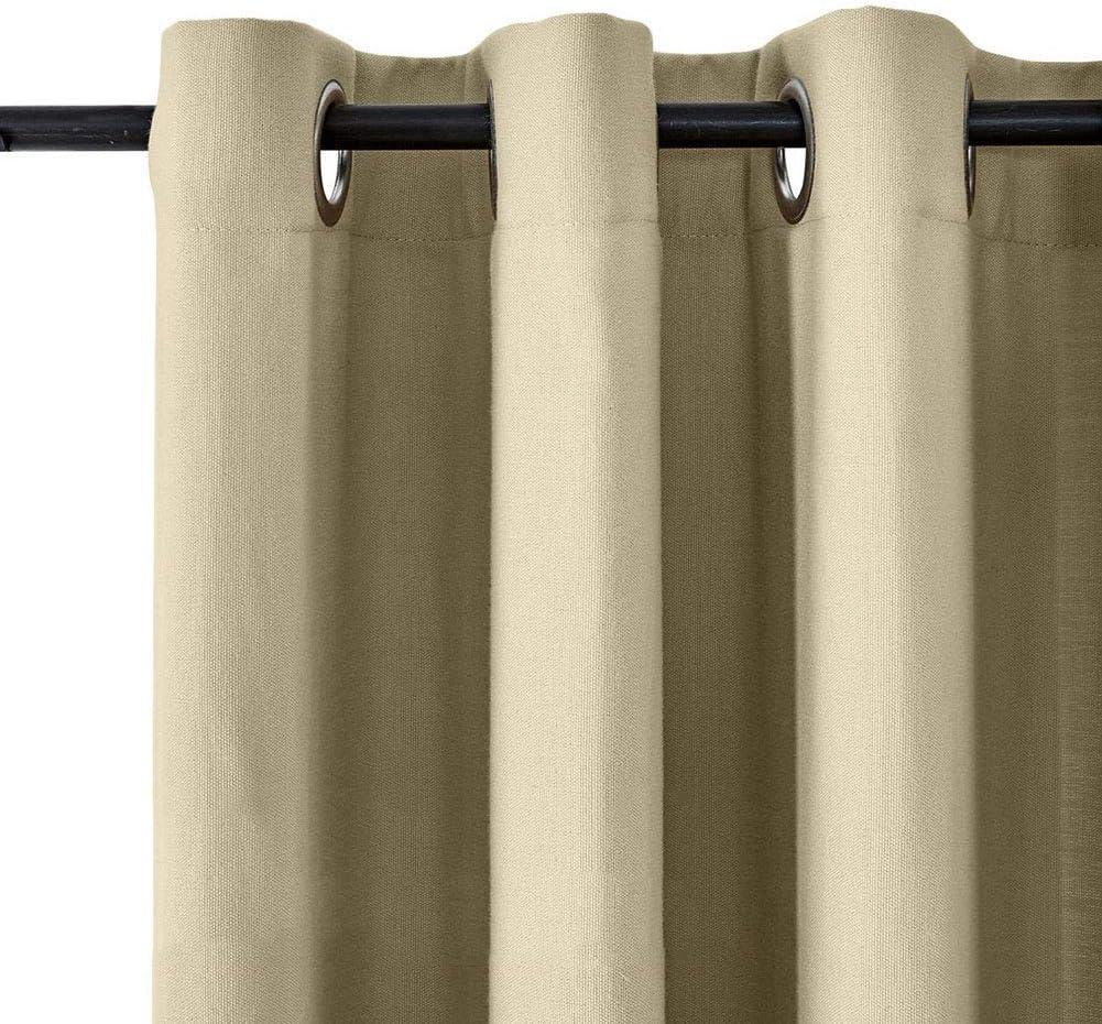 BAJIAN-LI Cortinas para Exterior, (2 Paneles) Impermeables ...