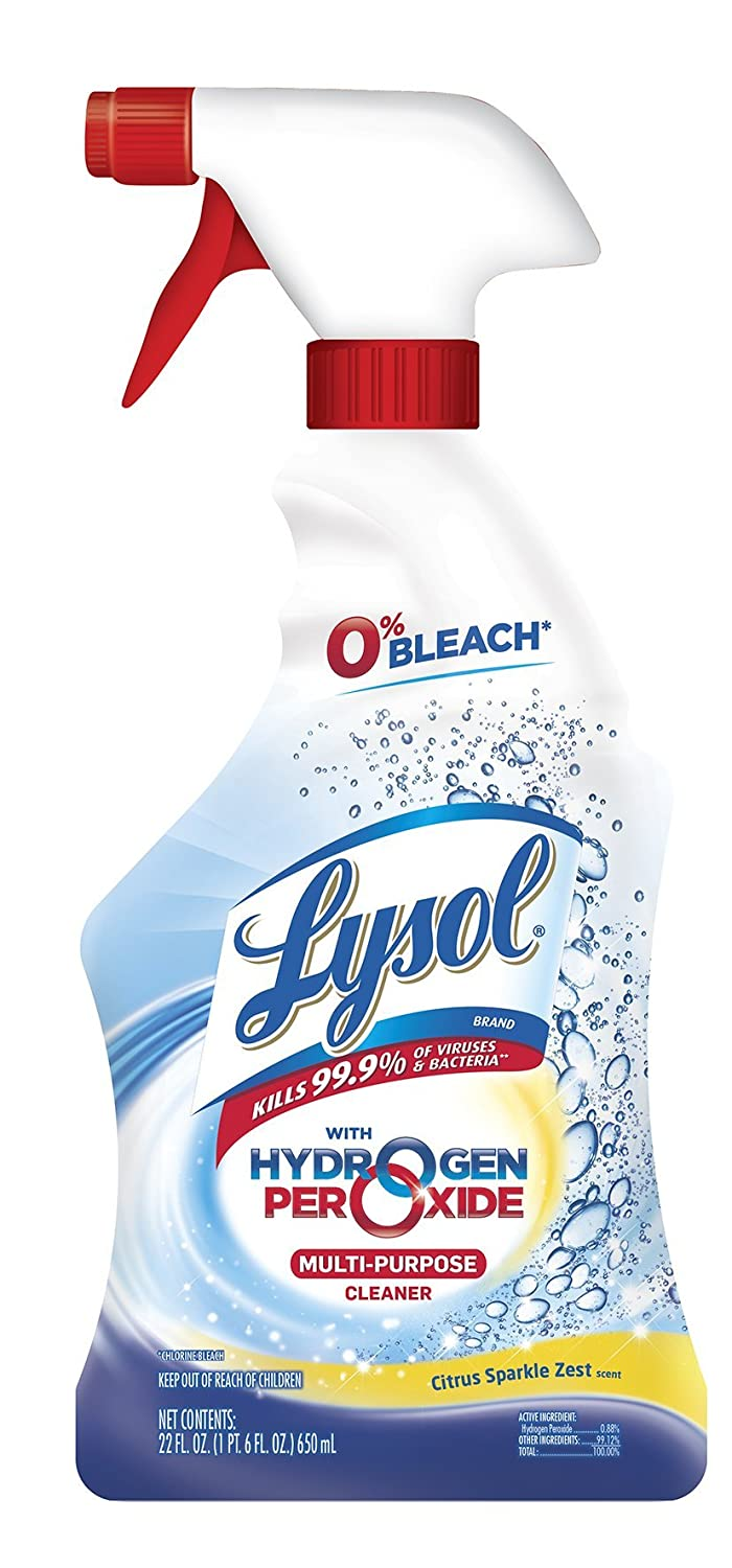 Lysol Bleach Free Hydrogen Peroxide Multi-Purpose Cleaner Spray, Citrus,  22oz
