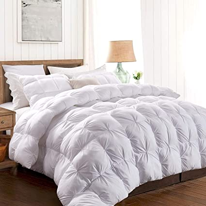 Amazon Com Moma White Pinch Pleat Queen Comforter Duvet Insert
