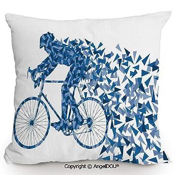 Amazon.com: AngelDOU – Funda de almohada de algodón y lino y ...