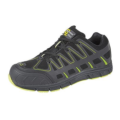 Grafters - Zapatillas de trabajo/Seguridad laboral ultra ligeras con puntera protegida para hombre: Amazon.es: Zapatos y complementos
