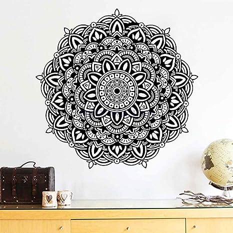 Etiqueta de la pared calcomanía Mandala Yoga Etiqueta de La ...