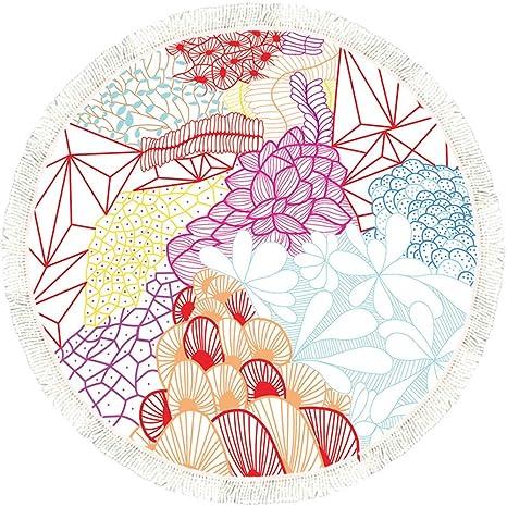 Vandott 150 cm Mandala Tapiz Toallas de Playa Redondo de Multi-Funcional Toalla de Playa