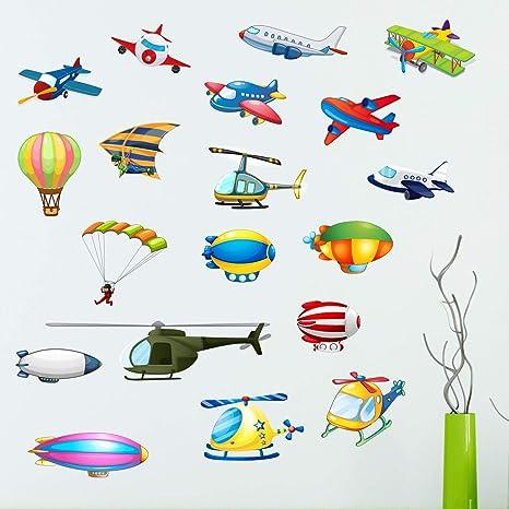 StickMe 'Set of 19 Types of Air Transport Baby - Kids
