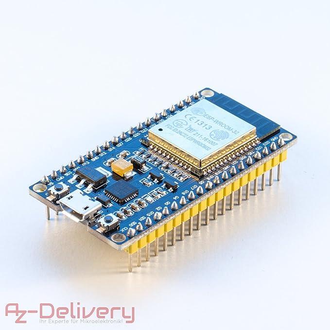 10 opinioni per AZDelivery ESP32 ESP 32 NodeMCU modulo WiFi Development Board Scheda di sviluppo
