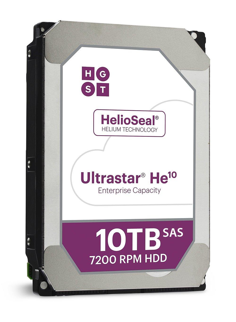 HGST Ultra Star HE1010TB HDD SAS 12GB/s 512e ISE 7200rpm huh721010al520024x 78,9cm, 3,5 Bulk