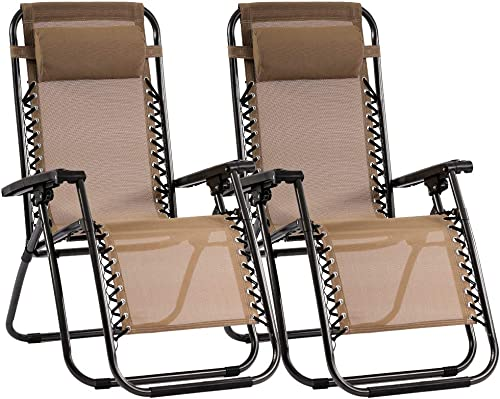Zero Gravity Chair Lawn Chair Patio Lounge Recliners Set of 2 Adjustable Lounge Outdoor Chairs - the best outdoor recliner for the money