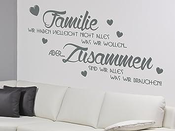 Fantastisch Wandtattoo Familie Wandsticker Wandaufkleber Wandbild Zitat Sprüche X2030  Dunkelgrau 120cm X 58cm