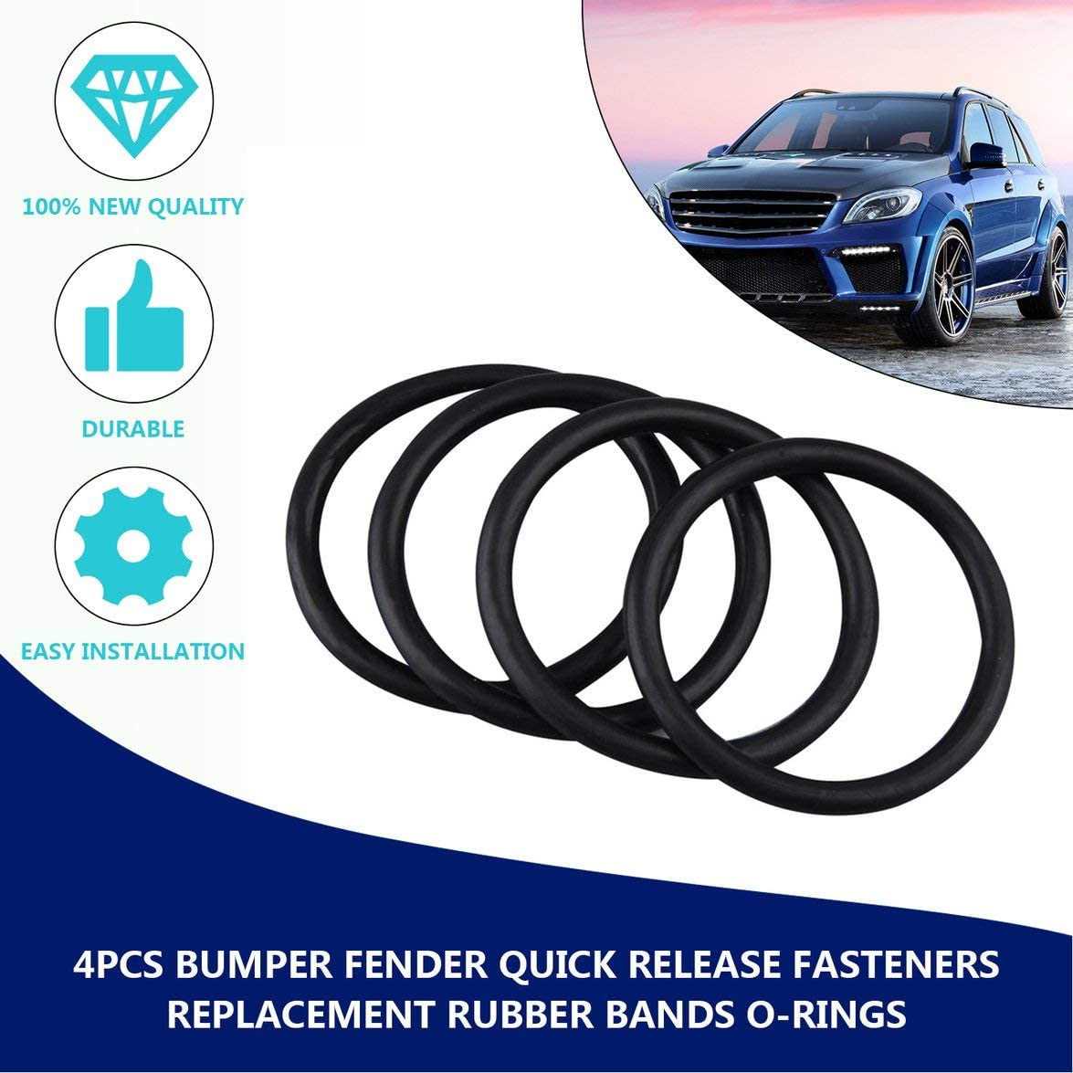 4pcs Bumper Fender Quick Release Fasteners Replacement Rubber Bands O-Rings