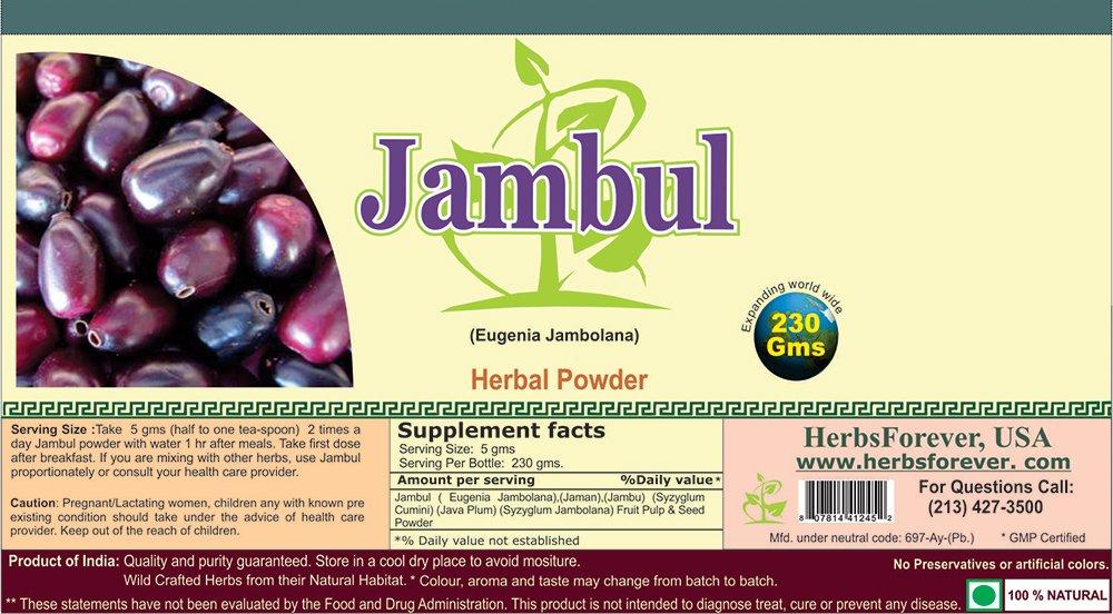 Amazon.com: Jambul en polvo (frutas y semillas) (Eugenia ...