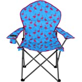 Trail Padded Folding Festival Camping Chair Funky Flamingo Watermelon With Bag