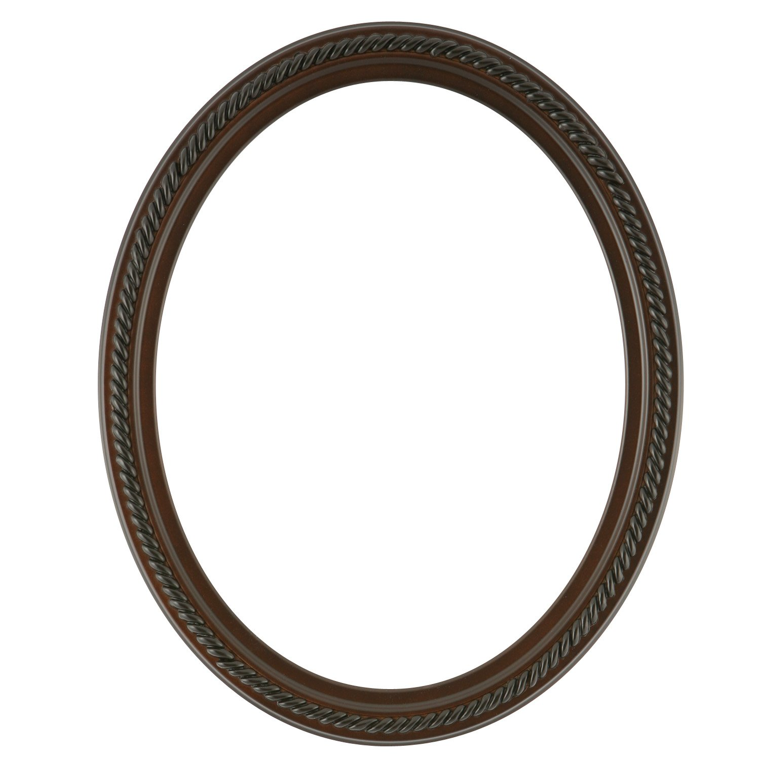 Oval Beveled Wall Mirror for Home Decor – Santa Fe Style – Walnut – 22×32 outside dimensions