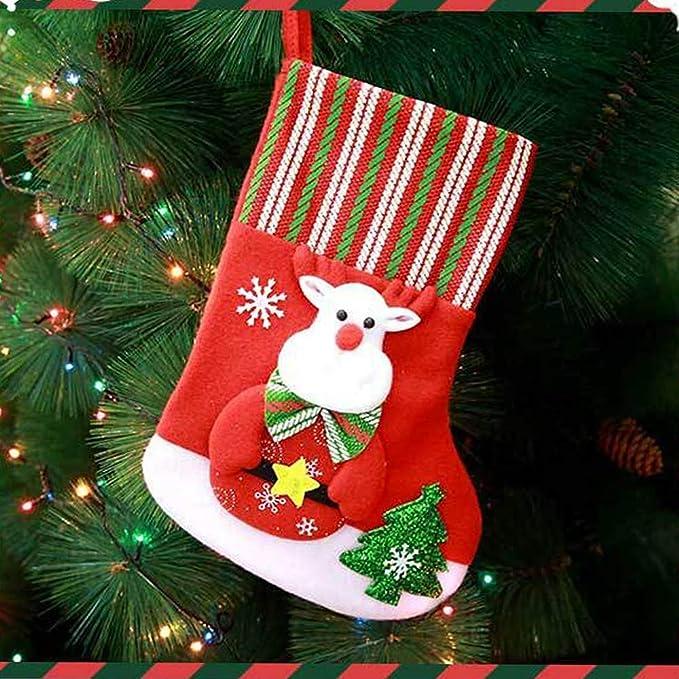 LEEDY Calcetines de Navidad de Papá Noel, Adornos ...