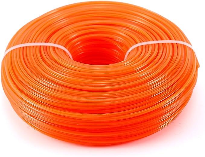 Anladia 100M Hilo de CortaCésped de Nilón Recambio de Segadora Tipos (2.8mm, Naranja)
