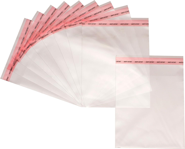 polipropilene orientato 100 pezzi 25cm x 35cm sacchetti stacca e attacca in plastica OPP Bustine trasparenti autoadesive in cellophane