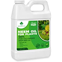 Neem Oil - Neem Oil Spray for Plants - 16 Oz - 100% Pure Cold Pressed Neem Oil for Plants Concentrate - Horticultural…