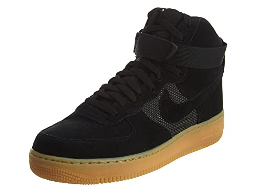 purchase cheap 6c31d 6f0fd Nike Mens Air Force 1 High 07 LV8 Black Gum-Light Brown Synthetic 8   Amazon.in  Shoes   Handbags