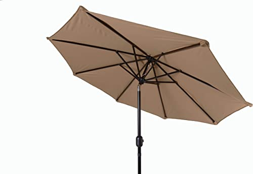 Trademark Innovations Tilt Crank Patio Umbrella, 7 , Tan