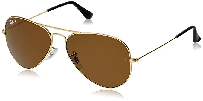 8c0790f3ad Image Unavailable. Image not available for. Colour  Ray-Ban Aviator  Sunglasses (Golden) (RB3025