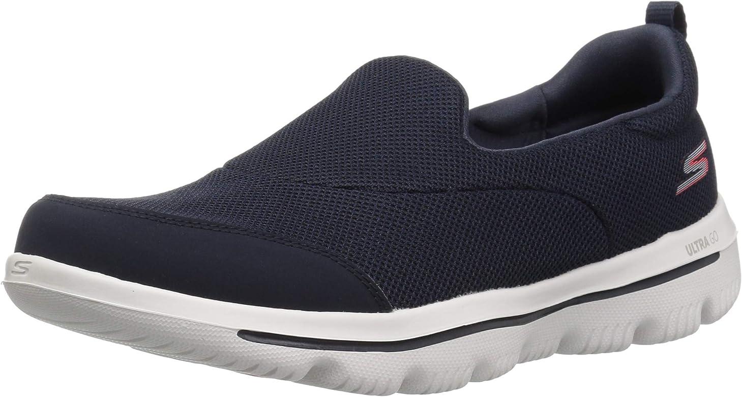 Women's GO WALK EVOLUTION ULTRA REACH Slip On Trainers, Blue (Navy TextileWhite Trim Nvw), 5 UK, (38 EU)
