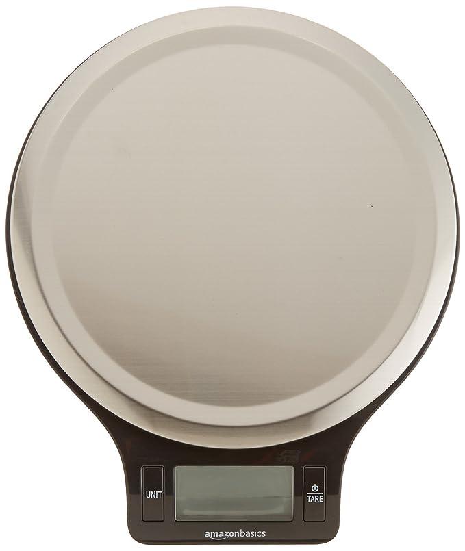 AmazonBasics - Báscula de cocina digital con pantalla LCD (5 kg)