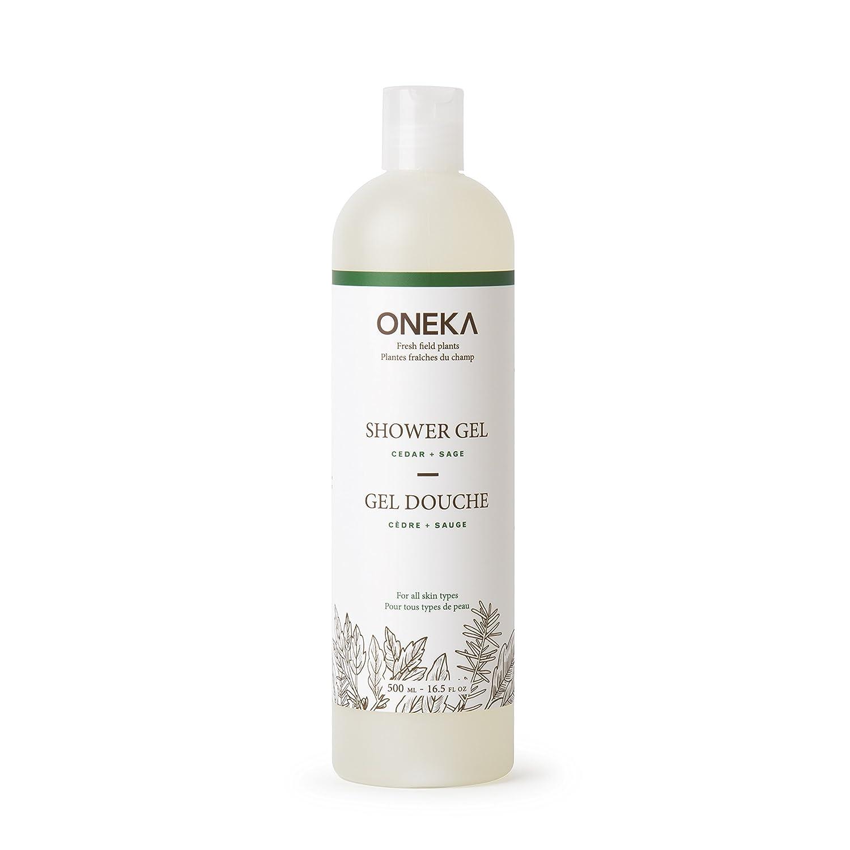 Oneka Cedar Plus Sage Shower Gel, 16.5 fl. Oz. QECJU