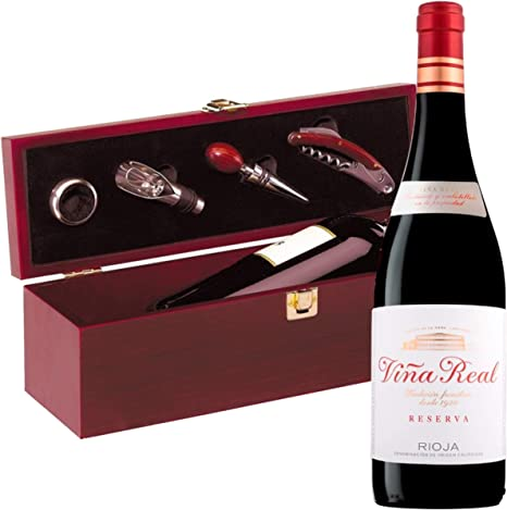Estuche Regalo Vino + Botella Reserva Viña Real D.Origen Rioja ...