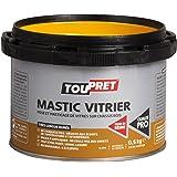 Toupret 470010 Mastic destiné à pose/masticage de vitres Boîte de 500 g Blanc