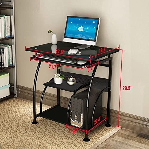 NRG Home Office Black Computer Desk PC Corner Laptop Table Workstation Furniture