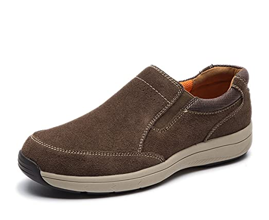 Men's Casual Leather Slip-on LoafersLightweight Suede Shoes