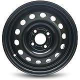 Road Ready Car Wheel For 2011-2013 Ford Fiesta 2004-2011 Ford Focus 15 Inch 4 Lug Black Steel Rim Fits R15 Tire - Exact…