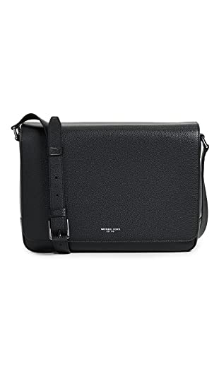 57cf1295c239 Amazon.com | Michael Kors Men's Bryant Pebble Messenger Bag, Black ...