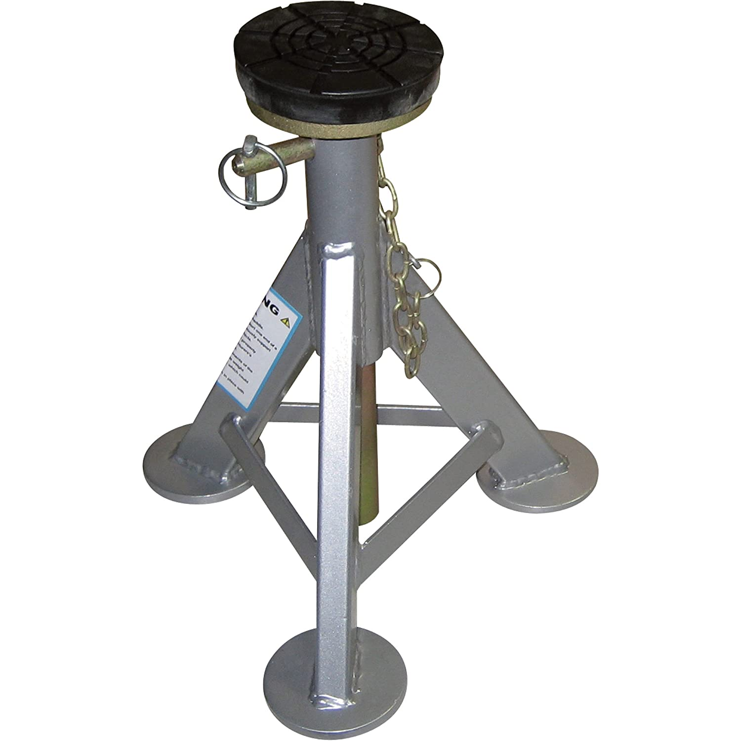 AME 14980 Flat Top Jack Stand with Rubber Cushion 3 Ton 1 Pair