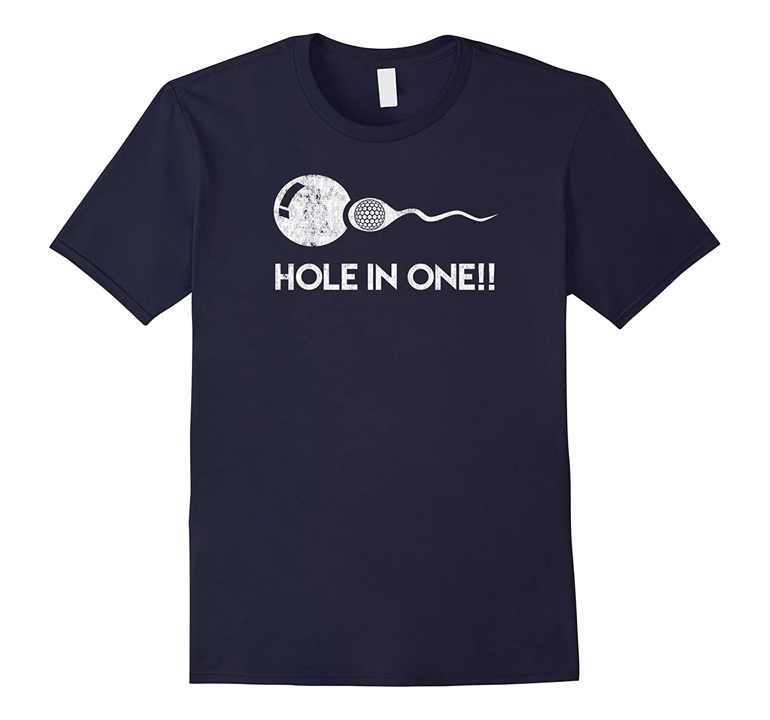 Hole In One Funny Golf Expectant Father Sports T-Shirt-Vaci