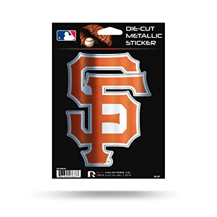 Rico industries inc san francisco giants rico 5 metallic decal die cut auto