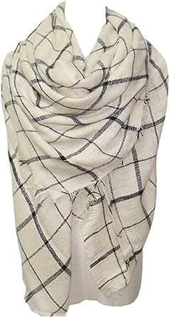 Plaid Scarf Soft Warm Tartan Shawl Cape Blanket Scarves Fashion Wrap