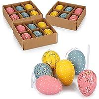 com-four® 24x Huevos de Pascua para Colgar