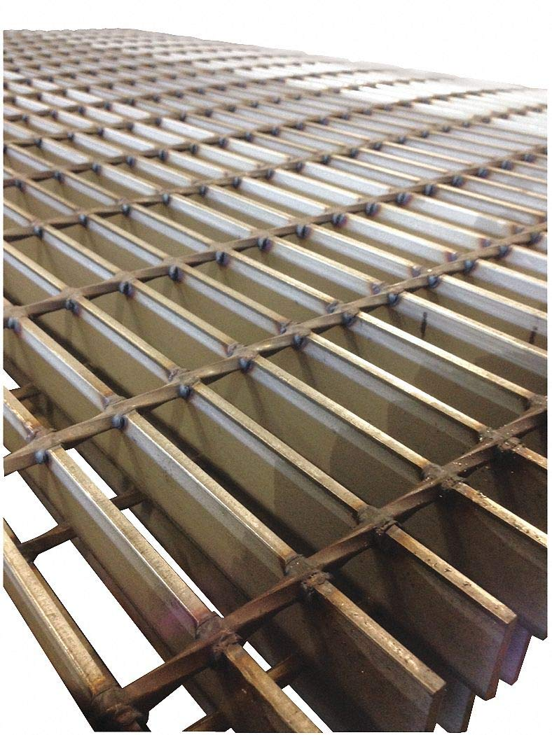 Smooth Surface Bar Grating, 24'' Span, 24'' Width, 1.5'' Height by DIRECT METALS