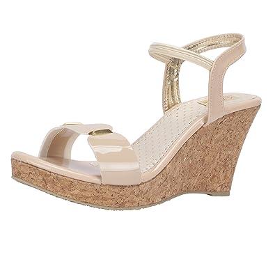 6e956b7d77f0 SHOFIEE Women s Stylish Cork   Trendy Wedges Party WEAR Heels  Buy ...
