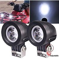 Biqing 2Pcs Faros Antiniebla Lámparas Auxiliares del LED,10W LED Luz de Trabajo Faros Delanteros Moto 2 inch Faro De…