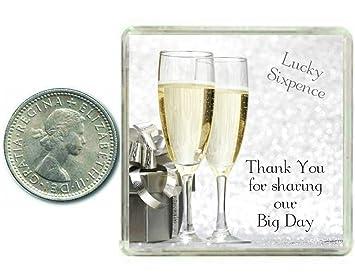 Sixpencestuck Glucksbringer Tolles Hochzeitsgeschenk Thank You For