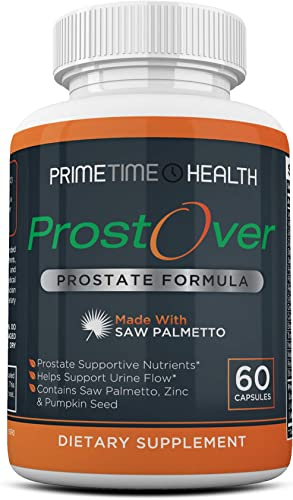 ProstOver Prostate Formula – All Natural Prostate Supplement for Men, Support for Prostate Health and Bladder, Reduce Bathroom Trips, Promote Sleep, Better Bladder Emptying 60 Capsules