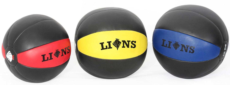 Leones® balón medicinal (no rebota Crossfit entrenamiento de ...