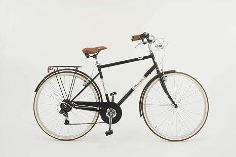 Via Veneto Bicicletta City Bike Da Uomo Velo Marche Malagueta Nero
