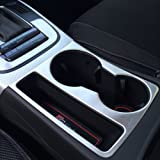 Car stainless steel water cup holder frame decal cover trim 3D sticker for Audi A4 A5 interior molding