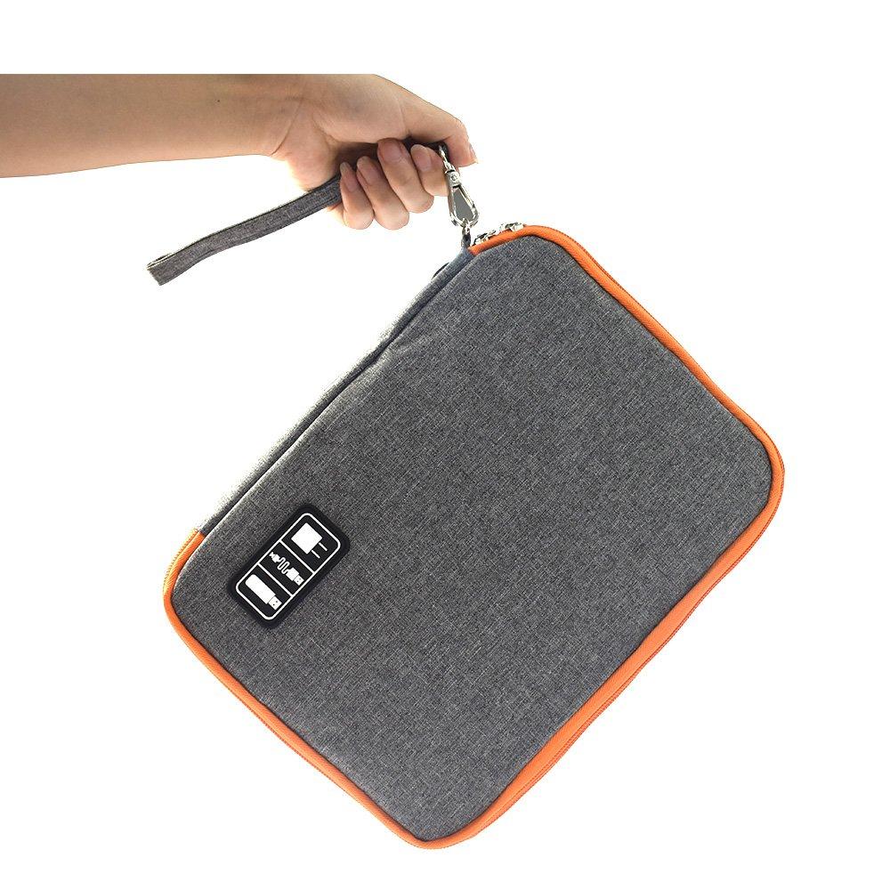 crayfomo Electronics Accessories Case,Waterproof Portable Cable Organizer Bag, Multifunctional Travel Digital Accessories Storage Bag