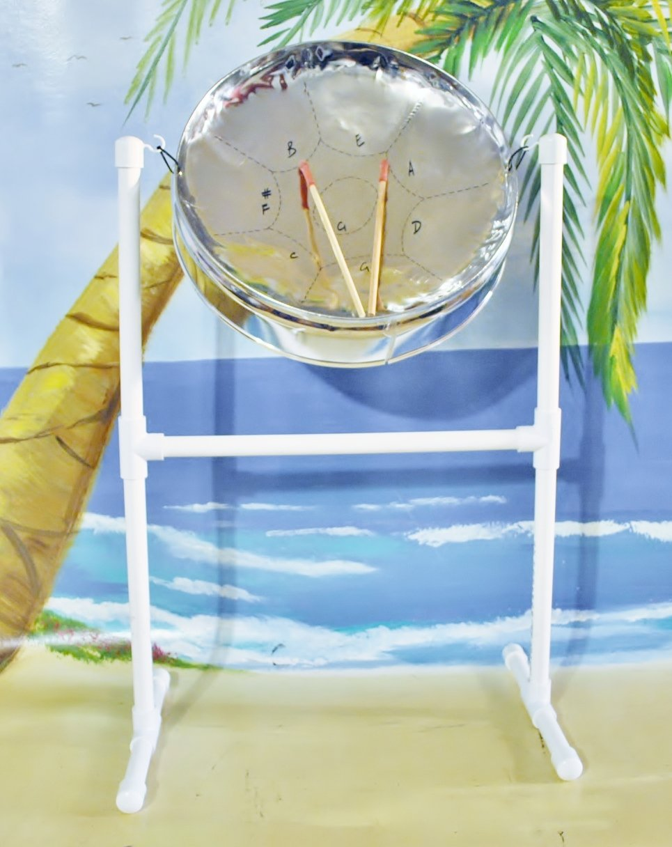Steel Drum with Sticks, Stand & Reggae for Steel Drum songbook with play-along Reggae CD.