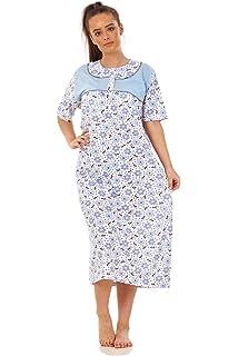 Apparel Ladies Girls Floral Short Nightdress 100/% Cotton Short Sleeve Nightwear M to XXL