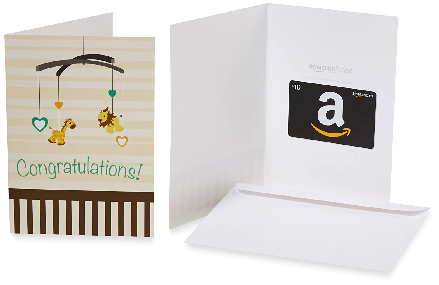 Amazon.com $10 Gift Card in a Greeting Card (Oh, Baby! Design)