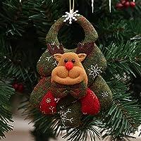 Cecileie Nuevos Accesorios para árboles de Navidad Sin Tejidos Muñeca de Navidad Realista Linda Decoraciones navideñas Baile Noche Regalos Colgantes